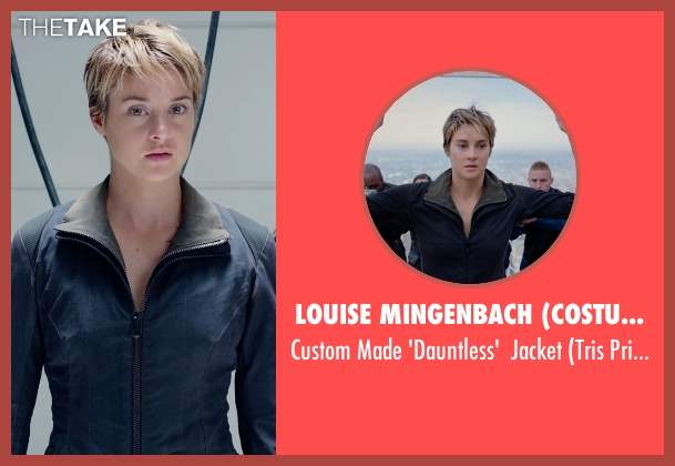 Louise Mingenbach (Costume Designer) black jacket from The Divergent Series: Insurgent seen with Shailene Woodley (Beatrice 'Tris' Prior)