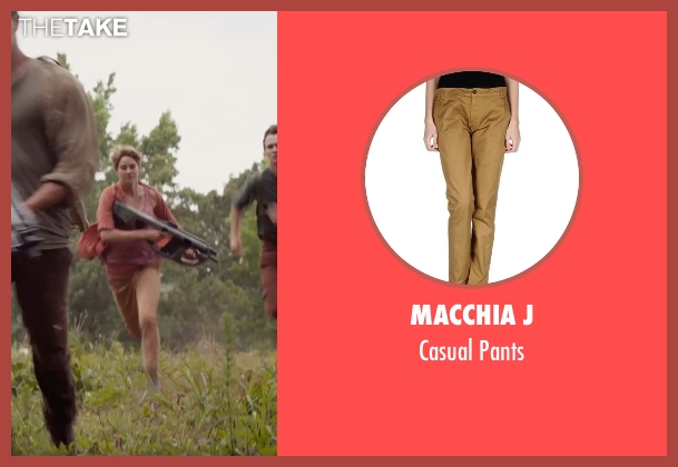 Macchia J brown pants from The Divergent Series: Insurgent seen with Shailene Woodley (Beatrice 'Tris' Prior)
