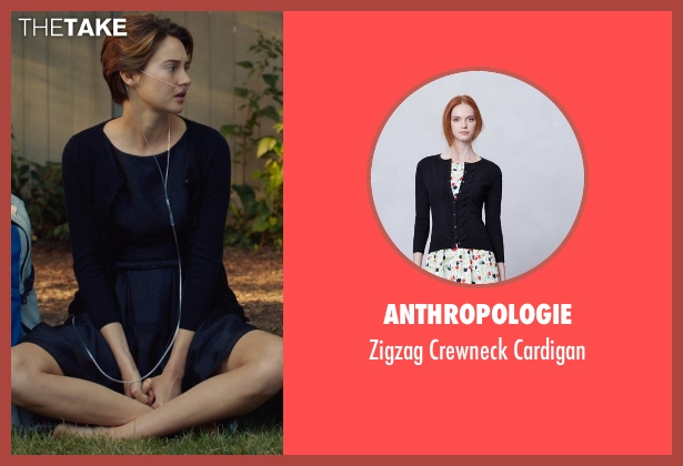Anthropologie black cardigan from The Fault In Our Stars seen with Shailene Woodley (Hazel Grace Lancaster)