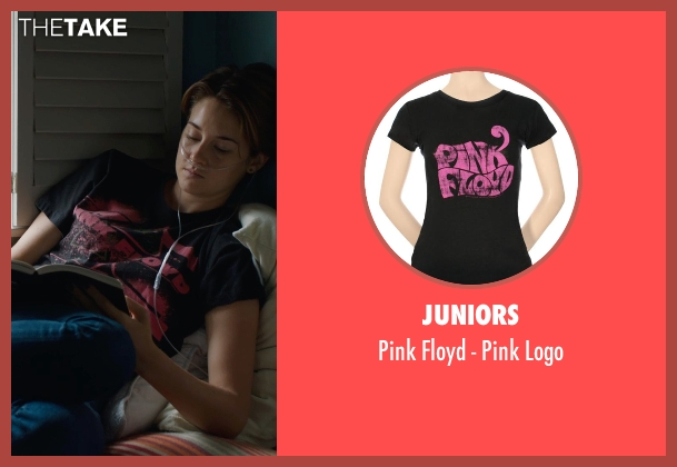 Juniors black logo from The Fault In Our Stars seen with Shailene Woodley (Hazel Grace Lancaster)