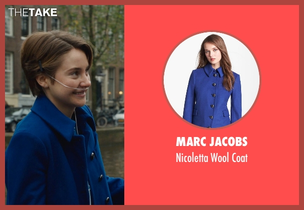 Marc Jacobs blue coat from The Fault In Our Stars seen with Shailene Woodley (Hazel Grace Lancaster)