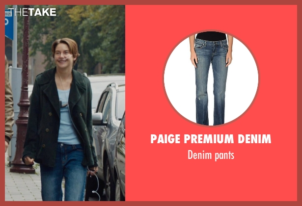 PAIGE PREMIUM DENIM blue pants from The Fault In Our Stars seen with Shailene Woodley (Hazel Grace Lancaster)