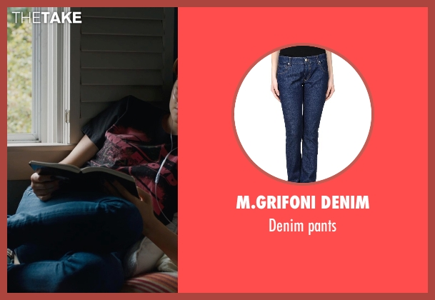 M.GRIFONI DENIM blue pants from The Fault In Our Stars seen with Shailene Woodley (Hazel Grace Lancaster)