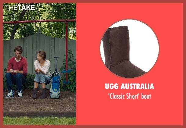 UGG Australia brown boot from The Fault In Our Stars seen with Shailene Woodley (Hazel Grace Lancaster)