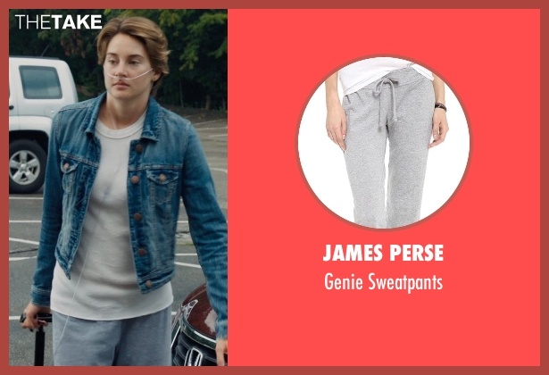 James Perse gray sweatpants from The Fault In Our Stars seen with Shailene Woodley (Hazel Grace Lancaster)