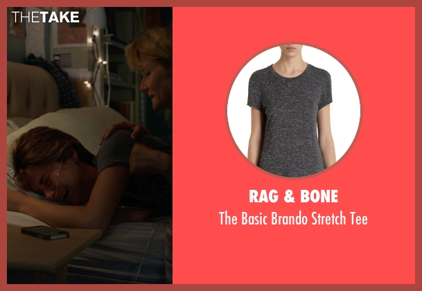 RAG & BONE gray tee from The Fault In Our Stars seen with Shailene Woodley (Hazel Grace Lancaster)