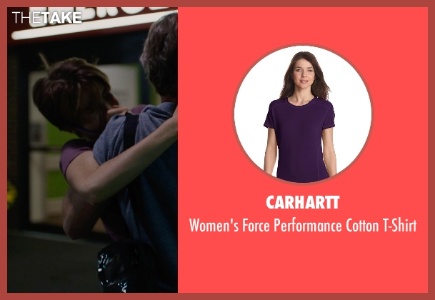 Carhartt purple t-shirt from The Fault In Our Stars seen with Shailene Woodley (Hazel Grace Lancaster)