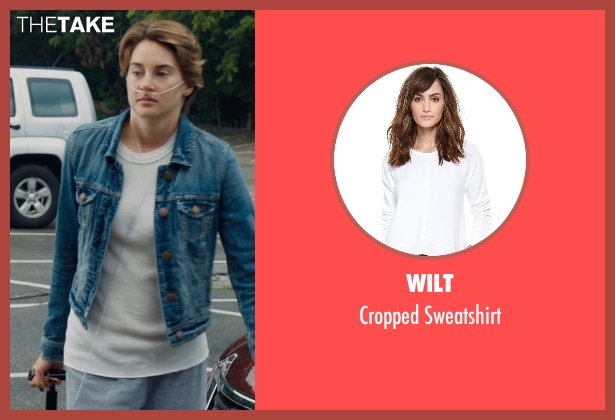 Wilt white sweatshirt from The Fault In Our Stars seen with Shailene Woodley (Hazel Grace Lancaster)