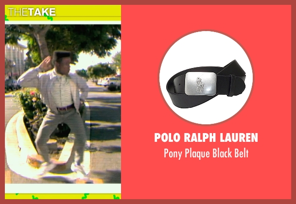 Polo Ralph Lauren black belt from Dope seen with Shameik Moore (Malcolm)