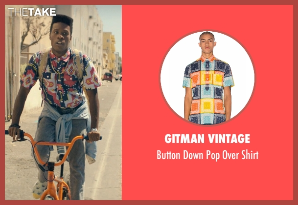 Gitman Vintage blue shirt from Dope seen with Shameik Moore (Malcolm)