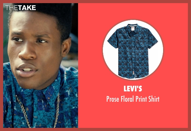 Levi's blue shirt from Dope seen with Shameik Moore (Malcolm)