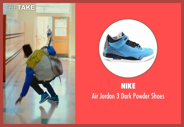 Nike blue shoes from Dope seen with Shameik Moore (Malcolm)