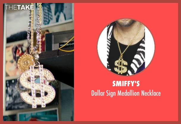 Smiffy's gold necklace from Dope seen with Shameik Moore (Malcolm)