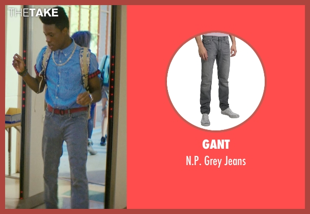 Gant gray jeans from Dope seen with Shameik Moore (Malcolm)