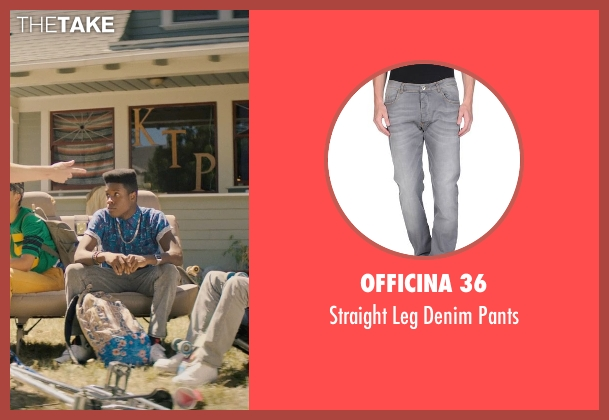 Officina 36 gray pants from Dope seen with Shameik Moore (Malcolm)