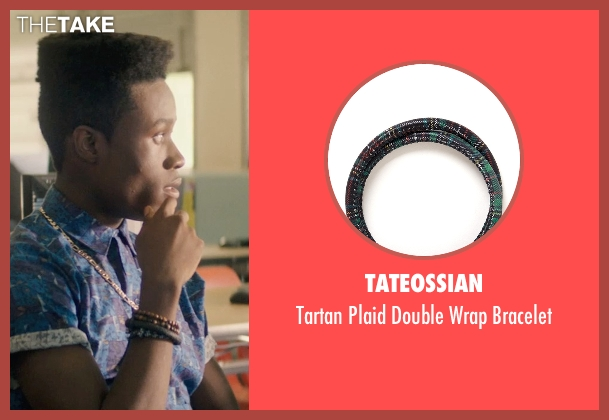 Tateossian green bracelet from Dope seen with Shameik Moore (Malcolm)