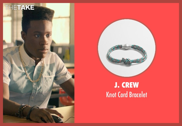 J. Crew green bracelet from Dope seen with Shameik Moore (Malcolm)