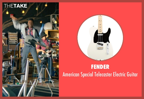 Fender guitar from Dope seen with Shameik Moore (Malcolm)