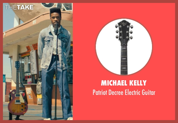 Michael Kelly guitar from Dope seen with Shameik Moore (Malcolm)