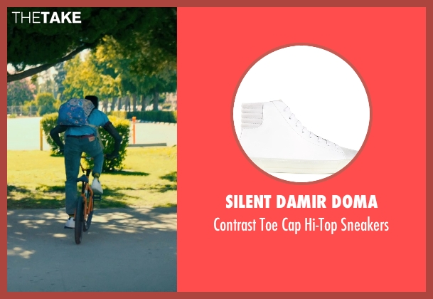Silent Damir Doma white sneakers from Dope seen with Shameik Moore (Malcolm)