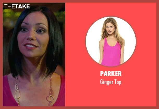 Parker pink top from Hall Pass seen with Shannon Leade (20-Something Woman)