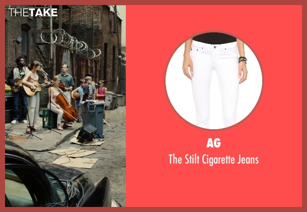 AG white jeans from Begin Again seen with Shannon Maree Walsh (Rachel)