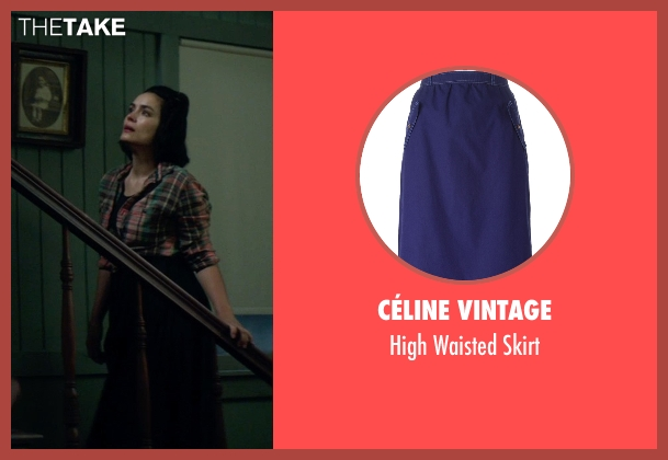 Céline Vintage blue skirt from Sinister 2 seen with Shannyn Sossamon (Courtney)