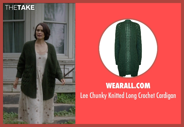 Wearall.com green cardigan from Sinister 2 seen with Shannyn Sossamon (Courtney)