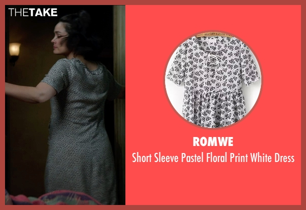 Romwe white dress from Sinister 2 seen with Shannyn Sossamon (Courtney)