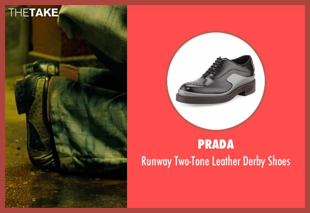 Prada black shoes from Free Fire seen with Sharlto Copley (Vernon)