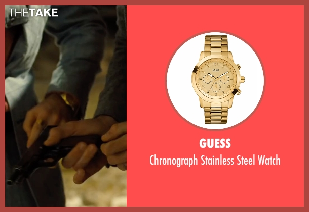 Guess gold watch from Free Fire seen with Sharlto Copley (Vernon)