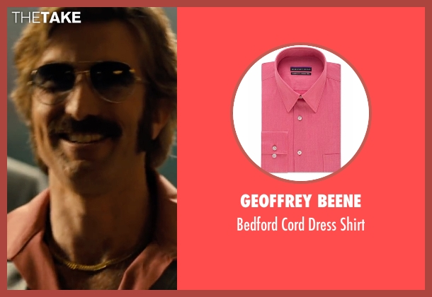 Geoffrey Beene pink shirt from Free Fire seen with Sharlto Copley (Vernon)