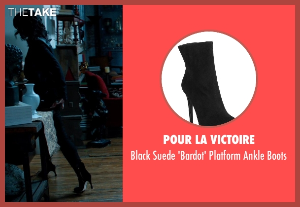 Pour La Victoire black boots from Addicted seen with Sharon Leal (Zoe Reynard)