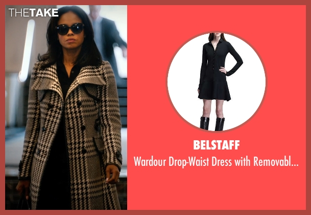 Belstaff black collar from Addicted seen with Sharon Leal (Zoe Reynard)