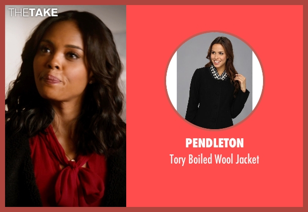 Pendleton black jacket from Addicted seen with Sharon Leal (Zoe Reynard)