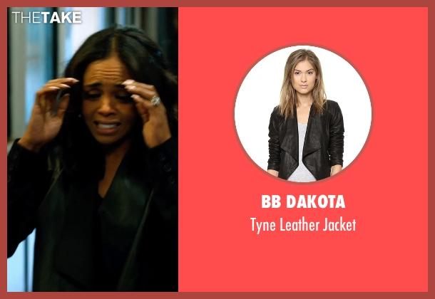 BB Dakota black jacket from Addicted seen with Sharon Leal (Zoe Reynard)