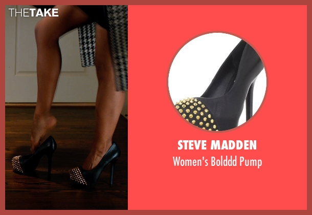 Steve Madden black pump from Addicted seen with Sharon Leal (Zoe Reynard)