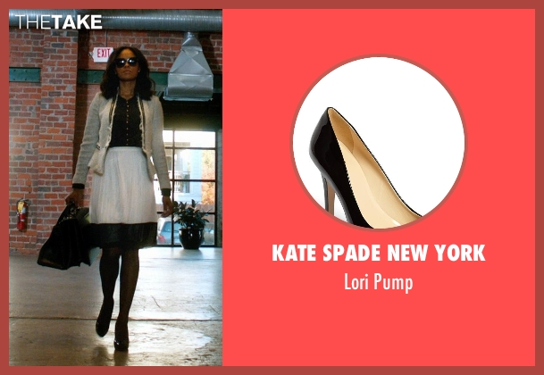 Kate Spade New York black pump from Addicted seen with Sharon Leal (Zoe Reynard)