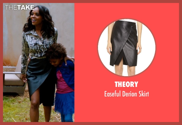 Theory black skirt from Addicted seen with Sharon Leal (Zoe Reynard)