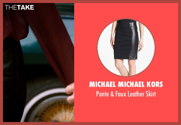 Michael Michael Kors black skirt from Addicted seen with Sharon Leal (Zoe Reynard)