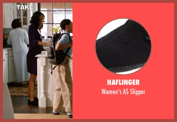 Haflinger black slipper from Addicted seen with Sharon Leal (Zoe Reynard)