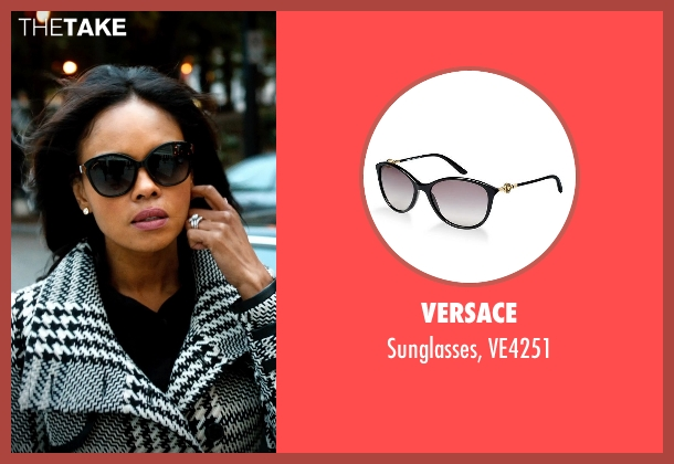 Versace black ve4251 from Addicted seen with Sharon Leal (Zoe Reynard)