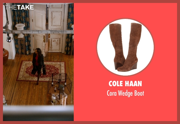 Cole Haan brown boot from Addicted seen with Sharon Leal (Zoe Reynard)