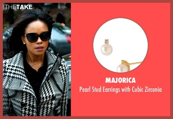 Majorica gold zirconia from Addicted seen with Sharon Leal (Zoe Reynard)