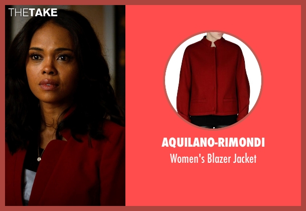 Aquilano-Rimondi red jacket from Addicted seen with Sharon Leal (Zoe Reynard)