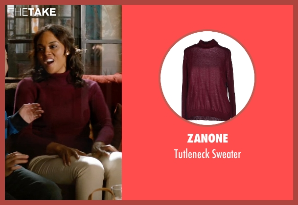 Zanone red sweater from Addicted seen with Sharon Leal (Zoe Reynard)