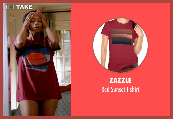 Zazzle red t-shirt from Addicted seen with Sharon Leal (Zoe Reynard)