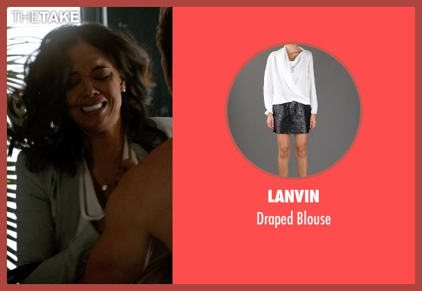 Lanvin white blouse from Addicted seen with Sharon Leal (Zoe Reynard)