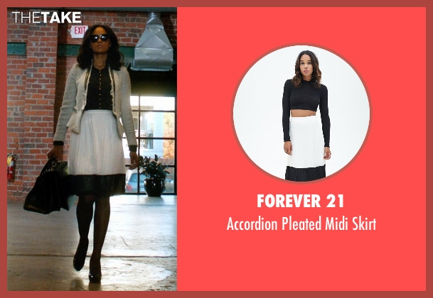 Forever 21 white skirt from Addicted seen with Sharon Leal (Zoe Reynard)