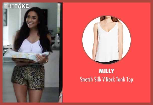 Milly white top from Mother's Day seen with Shay Mitchell (Tina)